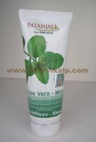 Patanjali, ALOE VERA - MINT, Face Wash, 60g, For Removes Dirt, Excess Oil