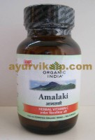 Organic India AMALAKI, 60 Capsules, for Cold, Fever, Allergy, Skin Infection