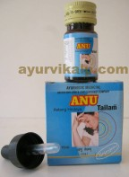 Nagarjun ANU Tailam, 15ml, for Migraine, Coryza
