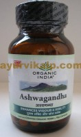 Organic India ASHWAGANDHA, 60 Capsules, Vigor & Vitality