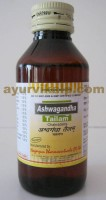 Nagarjun ASHWAGANDHA Tailam, 100ml, for Improves Muscle Tone, Nervine Disorders