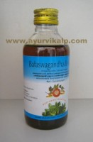 Arya Vaidya, Ayurvedic BALASWAGANDHADI THAILAM, 200ml, Useful In The Body and Head In Chronic Fever, Sleeplessness