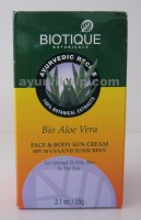 Biotique ALOE VERA Face & Body Sun Cream SPF 30 UVA/UVB Sunscreen 55g (2.1oz)