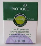 Biotique MYRISTICA Spot Correcting Anti Acne Face Pack 20g (0.7oz)