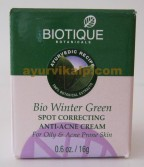 Biotique WINTER GREEN Spot Correcting Anti Acne Cream 16g (0.6oz)