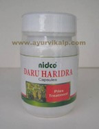 Nidco Herbal, DARU HARIDRA, Berberis Arisata, 60 Capsules, 250mg, Pills