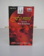 SBL Homeopathy, FE-MIN Tablets, 25 gm, Anaemia