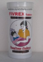 FIVEREX Tanvi Herbal, 30 Ghana Satva Tablets, For Fever, Heat Complaints