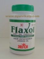 Jasch Health Food, FLAXOL, 60 Capsules, A Dietary Food Supplement