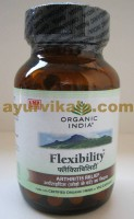 Organic India FLEXIBILITY, 60 Capsules for Inflamed Joints, Gout