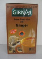 GIRNAR, Instant Premix Tea with GINGER 10 Single Serve Sachets