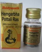 HEMGARBHA POTTALI Ras (Sharangdhar Samhita) Baidyanath, 5 Tablets