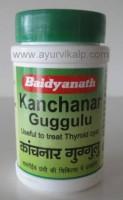 KANCHANAR Guggul (Yog Ratnakar) Baidyanath, 80 Tablets, Useful in Malignant Ulcers