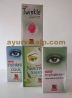 Lot of 3 Khojati Eye Drops Neem,Triphalanjan,Twinkle