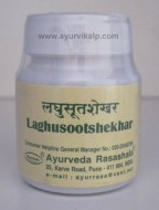LAGHUSOOTSHEKHAR, Ayurveda Rasashala, 60 Tablets, For Anorexia, Acidity Induced Headache