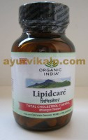 Organic India LIPIDCARE, 60 Capsules, Lowers LDL and Enhances HDL