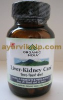 Organic India LIVER-KIDNEY Care, 60 Capsules, for Hepatitis A,B,C & Others
