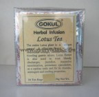 Gokul, Herbal Infusion LOTUS TEA, 20 Tea Bags, For Digestive, Diuretic & Cardiac Tonner