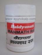 MANMATH Ras (Rasendra Saar Sangraha) Baidyanath, 40 Tablets