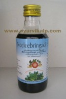 Arya Vaidya, Ayurvedic NEELEEBRINGADI OIL, 200ml, Useful In Hair Fall. Premature Graying Hair, Dandruff