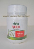Nidco Herbal, NEEM, Azadirachta Indica Leaf, 60 Capsules, 250mg, Purifies Blood