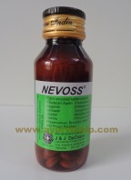 J & J Dechane, NEVOSS, 100 Tablets, Nervous Weakness, Anxiety