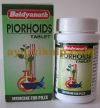 Baidyanath PIORHOIDS, 50 Tablets Effective for Piles,