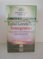 Organic India Tulsi Green Tea Pomegranate | pomegranateTea