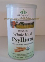 Organic India, WHOLE HUSK PSYLLIUM 100g For Heart Health and Supporting Gastrointestinal System