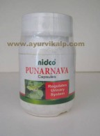 Nidco Herbal, PUNARNAVA, Boerhavia Diffusa, 60 Capsules, 250mg, Regulates Urinary System