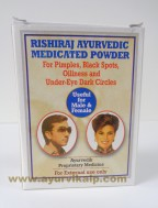 Rishiraj Ayruvedic, MEDICATIED POWDER, 23g, Pimples, Under Eye Dark Circles