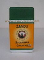 Zandu SUDARSHAN GHANVATI Tablets, 40 Tablets For Useful in Dyspepsia, Loss of Appetite, Fatigue & Nausea