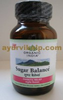 Organic India SUGAR BALANCE, 60 Capsules, for Diabetes