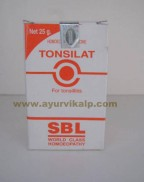 SBL Homeopathy, TONSILAT Tablets, 25 gm, Tonsillitis