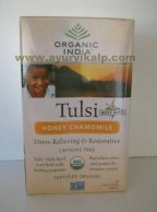 Organic India TULSI HONEY CHAMOMLE, 18 Tea Bag For Relieving The Body's Negative Reaction To Stress