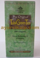 Organic India TULSI GREEN Tea - Stress Relieving & Energizing