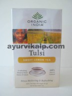 Organic India TULSI SWEET LEMON, 18 Tea Bags, Improves Digestion & Metabolism
