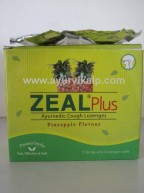Vasu ZEAL Plus Ayurvedic Cough Lozenges, 20 Lozenges, Pineapple Flavour