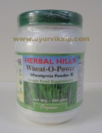 Herbal Hills, Organic WHEAT-O-POWER -WHEATGRASS POWDER, 100g, Green Food Supplement