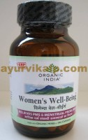 Organic India WOMEN WELL BEING, 60 Capsules, regularizes irregular Menstrual cycles