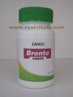Zandu, BRENTO FORTE, 60 Tablets For General Mental Debility, Mental Retardation