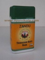 Zandu TRIBHUVAN KIRTI RASA, 40 Tablets For All Types of Fever and Liver Diseases