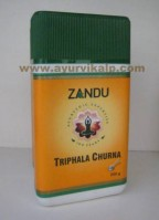 Zandu TRIPHALA CHURNA 200g, For Laxative, Natural Anti-Oxidant