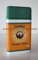Haritaki, Harde, Zandu, 40 Tablets, For Carminative and Laxative