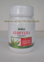 Nidco Herbal, ALOE VERA Capsules, 60 Capsules of 250mg, Useful in Digestive System