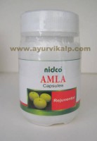 Nidco Herbal, AMLA, Embilca Officinalis Fruit, 60 Capsules, 250mg, Rejuvenator