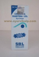 SBL Homeopathy, CINERARIA MARITIMA Eye Drops, 10 ml, Clouding of Vision, Early Cataract in Patients Suffering from Diabetes
