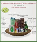 Ayurvedic Hamper Combo, 10 Products For Your Daily Health Concerns, Special Offer Of  USD 20
