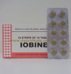 J & J Dechane, IOBINE, 100 Tablets, Cold And Allergies