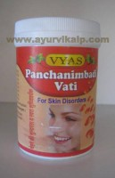 Vyas, Panchanimbadi Vati, 50 Tablets, For Skin Disorders